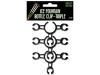 Met deze HorecaXF bottle clips bevestig je eenvoudig en veilig 3 brandende ijsfonteinen aan de hals van een fles