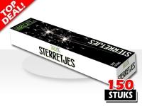 Sterretjes 30 centimeter verpakt per 150 stuks, speciaal gemaakt voor horecagebruik en voor bruiloften en feesten