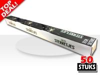 Speciale horeca sterretjes van 70cm verpakt per 50 stuks. Voor gebruik in de horeca, op bruiloften en evenementen