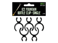 Met deze HorecaXF bottle clips bevestig je eenvoudig en veilig een brandende ijsfontein aan de hals van een fles
