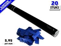 Bestel de goedkoopste 80cm confetti shooters met donkerblauwe brandvrije papieren confetti bij Partyvuurwerk. Eenvoudig online bestellen en snel geleverd!