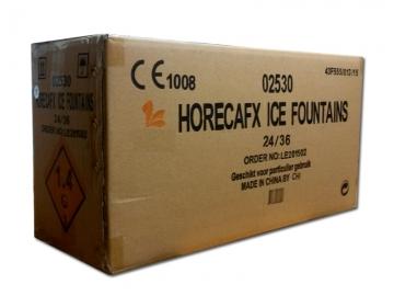 Karton professionele horeca ijsfonteinen. Speciaal ontwikkeld horecavuurwerk voor binnengebruik in cafés, restaurants en clubs.
