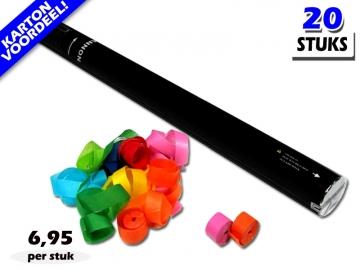 Laagste prijs! Bestel 80cm streamer shooters met multicolour brandvrije streamers zeer voordelig online bij Partyvuurwerk.